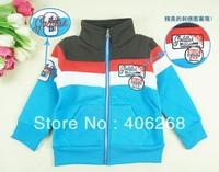 free shipping  2013 spring & fall best quality  zipper children's coat   boy's sport coat