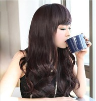 Free shipping Fashion Girls Non-mainstream Long Roll Fluffy  Long Hair Full Wigs