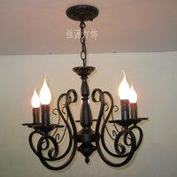 Fashion pendant light brief decorative lighting lamps wrought iron candle pendant light