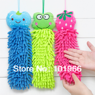 Wholesale 10PCS/Lot Cute Cartoon&amp; Animal Pattern Mircofiber Chenille Fiber Hand Towels/Car Cleaning Towels(China (Mainland))