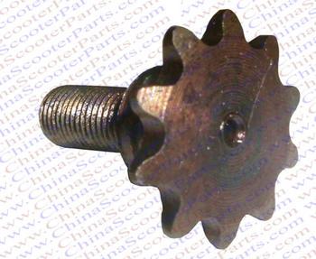 10 Tooth Front Pinion Gear Sprocket 47CC 49CC Mini Moto Pocket Dirt Pit Bike ATV 25H 6MM Chain 10MM Thread