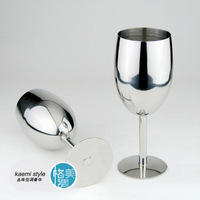 Stainless steel wine glass red wine champagne fruit juice cup high-quality large size 17cm