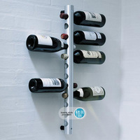 Stainless steel wine rack tubular theroom wall wine rack round tube theroom 12-wine theroom