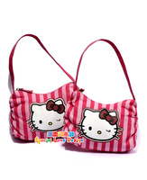 Very cute and fashion hello kitty little girl stripes totes handbag,girl storeage bag,size 21*13cm,wholesale