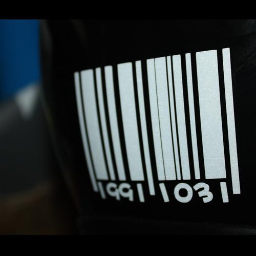car stickers personalized customize digital bar code digital(China (Mainland))