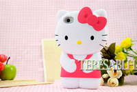 Kitty case For IPhone 4S silicone Santa Claus cover case, free shipping wholesale or retail