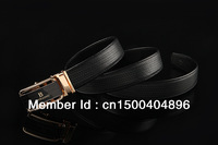 High-grade automatic head layer cowhide & zinc alloy buckle