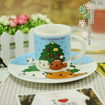 Kapibara berodach memorial kirby 08 water cup mug coffee cup and saucer plate(1 cup of 1  plate)