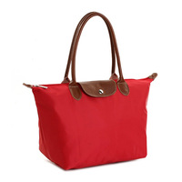 Modern 2013 long-handled nylon waterproof female shoulder bag folding bag dumplings chromophous 3536