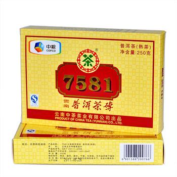 Classic cooked tea brick 88sqm 7581 PU er tea cooked brick