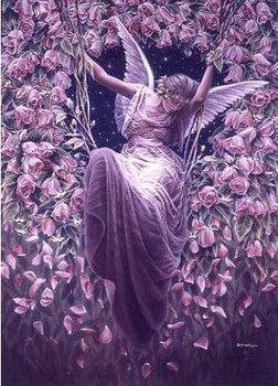 Latest Cross Stitch Kit Purple Wizard rose angel