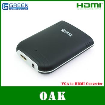 Free Shipping  - Green Connection VGA Audio to HDMI Converter  Adapter fro PC/HDTV/AV 1080P - Dropshipping