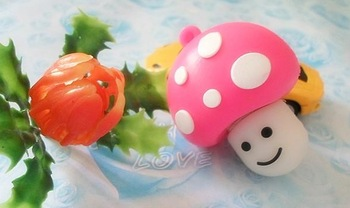 M-164 Wholesale Cheap Enough Cartoon Pink Mushroom head 4GB 8GB 16GB 32GB 64GB USB 2.0 Flash Memory Stick Drive Thumb/Car/Pen