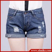 2013 new arrival Korean style summer Frazzle ornament shorts denim slim ladies short pant free shipping W24 - 32 WA174