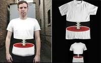 New fashion 3D effect bone short sleeve T-shirt Korean leisure short Men short spinal t shirt summer men's short t-shirt