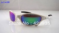 HOT SALE ! 2013 TOP quality men's sport sunglasses,designer sunglasses,juliet sunglasses,white metal frame,blue ice lens