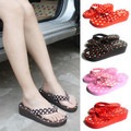 Summer fashion trend of the platform slippers dot high heel wedges flip flops flip female slippers