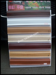 Pvc skirting board holding-down line plastic waterproof compound floor laminate flooring(China (Mainland))
