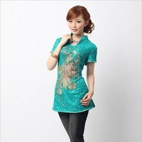 Cheongsam 2013 summer lace women's slim cheongsam top nn158