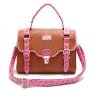 2014 women's ostrich grain handbag fashion women's shoulder bag messenger bag fashion all-match vintage handbag