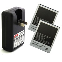 2x 1650mAh Battery + USB Wall Charger For Samsung Galaxy S2 SII i9100