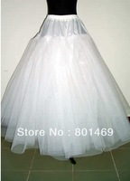 Accessories Sell  Fashion 2013 White 3-Layers Tulle No Hoop Bridal Petticoat Wedding Petticoat  In Stock