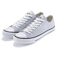 Vancl basic VANCL classic low canvas shoes 2.0 Men Light gray black white