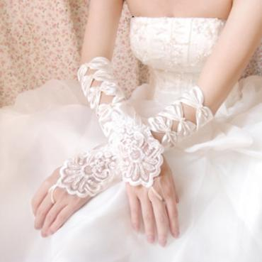 (Min.Order $20) Bridal gloves married mitring design long satin gloves chromophous gloves 04(China (Mainland))