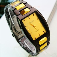 Hot Sale Top Quality Luxury Gold Men's Quartz Watch Brand Name Wrist Watch Wholesale Free Shipping