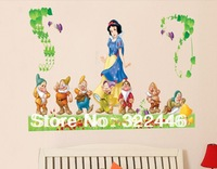 Snow White wall stickers baby bedroom cartoon kindergarten children room background wall stickers