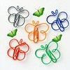 Free Shipping 36PCS/Lot Mixed Colors Lovely Butterfly Fancy Clip; Metal Paper Clip; Office Clip for Paper