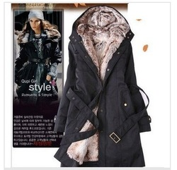 Ladies Fashion Winter jacket,winter outerwear,winter clothes,Faux fur lining women&#39;s fur jackets Parka Overcoat Tops/CT 09(China (Mainland))