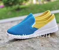 Fashionable Blue Color Men's shoes Mesh Ventilate outdoor shoe Casual Leisure Sport Skateboard Shoes .