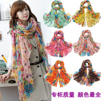 Free Shipping Fashion Long Cotton Voile Beach Scarf  Autumn and Winter Women's Wraps Pashmina