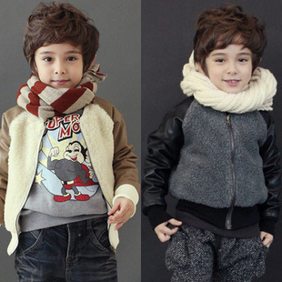 Male child baby spring 2013 children&#39;s clothing child clothes winter wadded jacket outerwear clothes z MUZAI(China (Mainland))