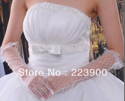 2013 Hot Sale Women Lady Girl White Bridal ceremonial Gloves(China (Mainland))