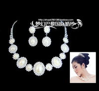 Shell necklace bride chain sets necklace earrings bridal accessories accessories x01  earring