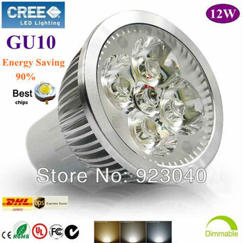 10X [Free shipping] High Power GU10 4X3W 12W dimmable LED lighting Spotlight led bulbs led lamp