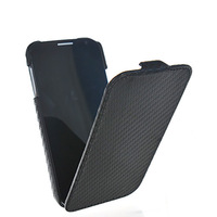 Free shipping New arrival Lattice surface flip hard back case cover for Samsung i9500 Galaxy s4 s iv with 4 Colors