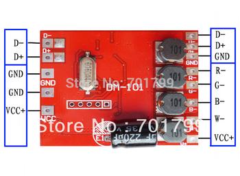 DM-101;4 channel RGBW dmx constant current decoder,DC12-24V input,600ma*4channel output