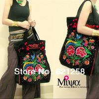 New Arrival! Ethnic style handmade embroidery  Phoenix shoulder bag, canvas bag,Bohemia style woman Handbag