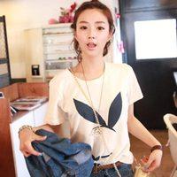 2013 summer new arrival loose short-sleeve slim T-shirt female top wt129