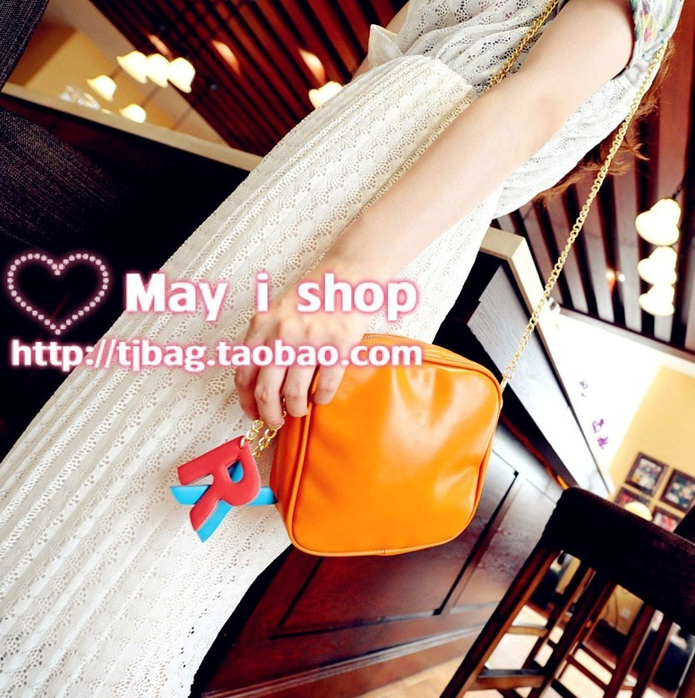 Free shipping Letter messenger bag summer all-match chain of packet pendant bag vintage beautiful female bags shopping bag(China (Mainland))