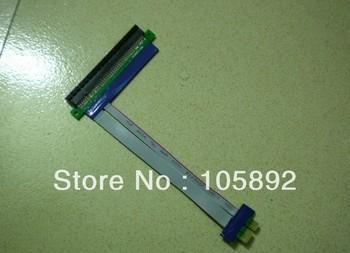 Free shipping 5pcs/lot  length PCI Express PCI-e1 to16 Riser Card Flex Flexible Ribbon Extender Extension Cablef for Bitcoin