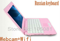 Cheapest New 10 inch WIFI Windows CE 7.0 mini laptop netbook computer VIA8850 1.5GHz/512M/4GB+ Webcam+Russian keyboard Free ship