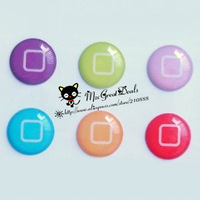 6 Pieces New Style Bottons Home Button Sticker Compatible with Apple iPhone 4S for iphone 5 for ipod ipad