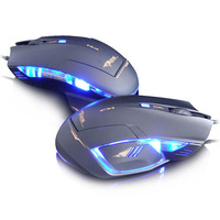 New arrival E-3lue Cobra II 1600DPI USB Wired Optical Game Gaming Mouse Mice Black Free Shipping