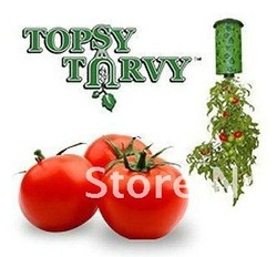 2Pcs Magic Suspended Vegetable Planters Gardening Plants Flower Pots Outdoor Garden Bed Best Gift for Kids Mommy Kitchenwear(China (Mainland))