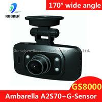 Ambarella GS8000 GPS Car DVR 1080P Full HD Motion Detection Night Vision Wide Angle HDMI 5M Camera 2.7 16:9 LCD