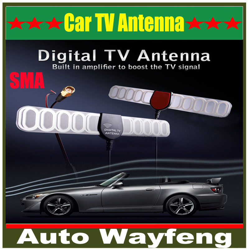 Digital TV Active Antenna Mobile Car Digital DVB-T ISDB-T Aerial with a Amplifier Booster+Free shipping(China (Mainland))